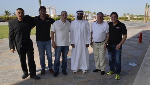 O príncipe Hamad Salem Al Almeri recebe delegação goiana no Emirates Palace Hotel, em Abu Dhabi | Foto: Divulgação