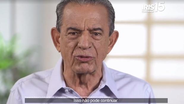 Iris durante propaganda na TV