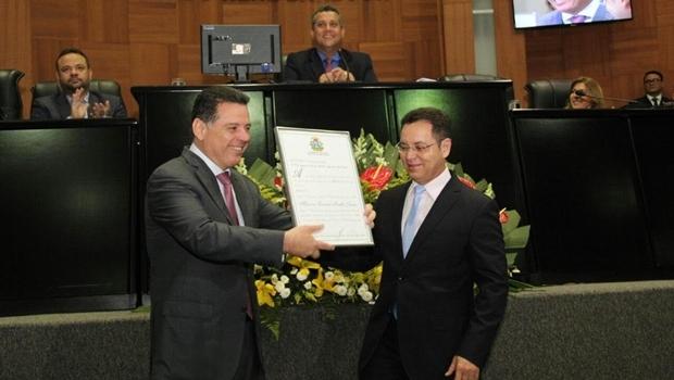 Governador Marconi e deputado estadual Eduardo Botelho | Gabinete