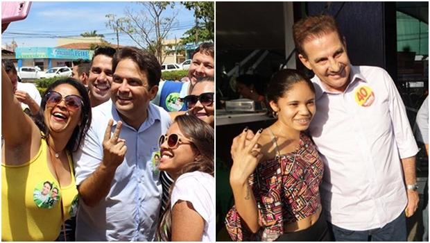 Robert do Órion, em Anápolis: começou bem atrás e chegou ao 2º turno; Vanderlan Cardoso, em Goiânia, terminou o 1º turno em viés de crescimento | Fotos: Facebook