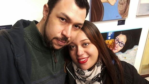 Angélica e Nilton começaram a conversar na publicação de uma amiga  no Facebook e hoje moram juntos em Pelotas, no Rio Grande do Sul