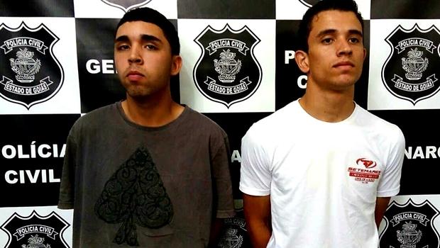 Suspeitos foram presos com a arma do crime | Foto: reprodução