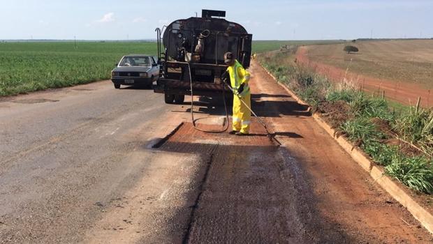 Agetop realiza obras em rodovia no Entorno do DF
