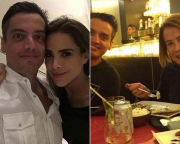 Léo Dias com Wanessa Camargo e com Zilu Camargo; elas são filha e ex-mulher de Zezé Di Camargo