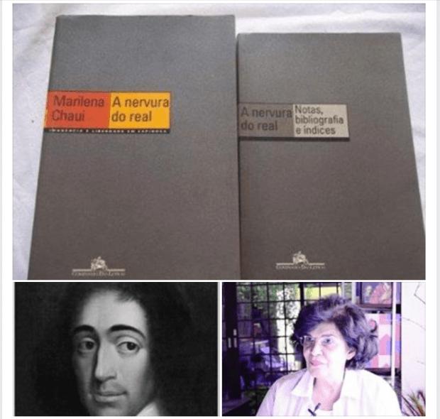 O celebrado e, aparentemente, pouco livro de Marilena Cahui sobre a obra do filósofo Espinosa