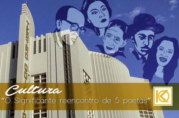 O Significante Reencontro de 5 Poetas em está em exibição no Teatro Goiânia | Studio Karla Oliveira