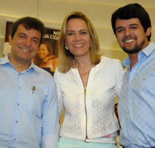 Vinicius Luz, prefeito eleito de Jataí, Lêda Borges, secretária de Cidadania e Trabalho, e Thiago Maggioni, vereador | Foto: Facebook de Thiago Maggioni
