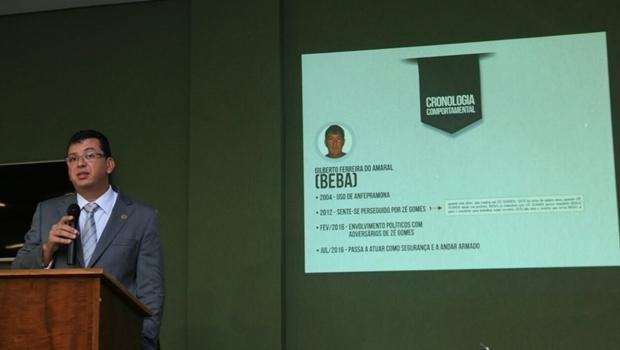 Delegado Douglas Pedrosa apresenta inquérito   Foto: divulgação