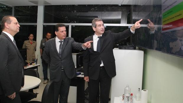 Marconi e Leonardo Vilela apresentam Conecta SUS para ministro Ricardo Barros | Foto: Humberto Silva