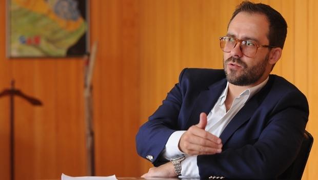 Presidente Lúcio Flávio durante entrevista ao Jornal Opção em março de 2016 | Foto: Nando Milk