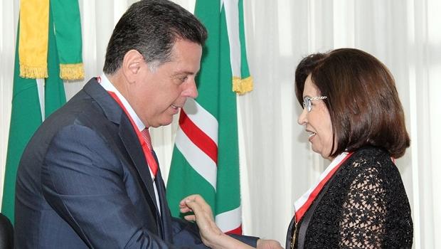 Para governador, o fato de Laurita assumir o STJ é mais um avanço das mulheres   Foto: Humberto Silva