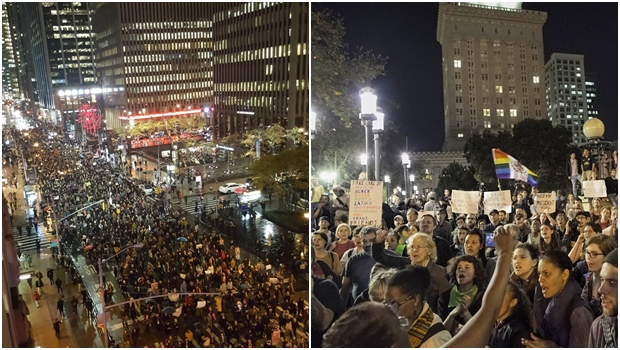Nova onda de protestos contra Trump toma ruas de cidades norte-americanas
