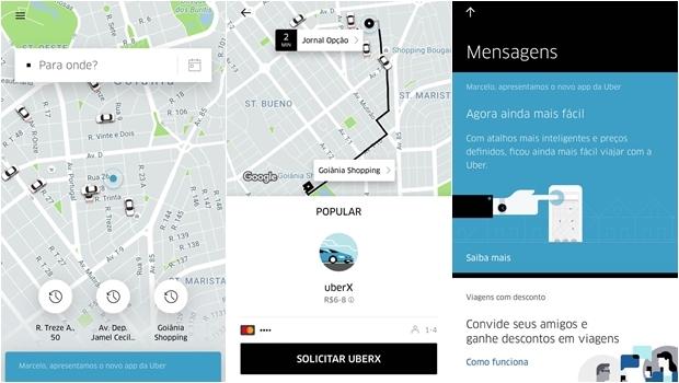 """Uber recria aplicativo """"do zero"""" e torna serviço mais rápido e inteligente. Confira o que muda"""