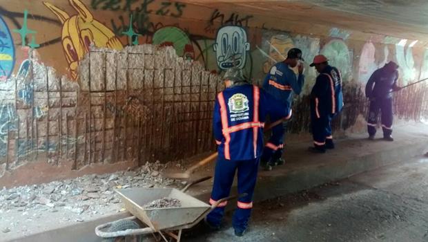 Prefeitura interdita viaduto próximo ao Flamboyant para obras de manutenção
