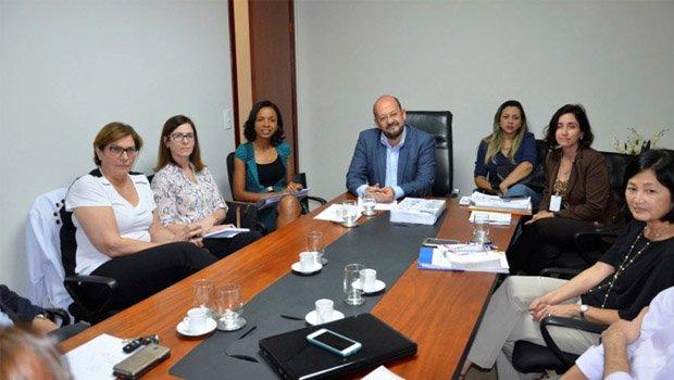 Secretário de Saúde, Marcos Musafir, em reunião com diretoria do HCor  | Foto: Divulgação