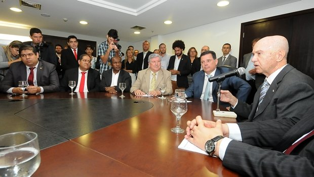 Governador Marconi Perillo e presidente da Coteminas, Pedro Garcia   Foto: Lailson Damásio