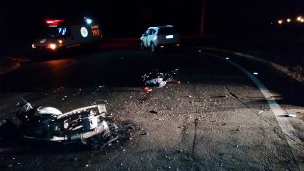 Acidente ocorreu no início da noite deste sábado (17) | Foto: Dcit