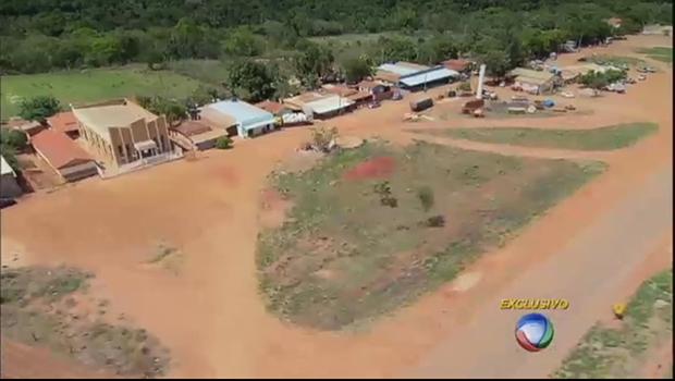 Assentamento Ponte de Pedra é, atualmente, considerado um assentamento modelo, aquele que funcionou. No local, moram mais de mil pessoas   Foto: Reprodução/TV Record