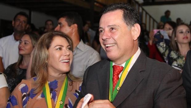 Marconi e Valéria são homenageados pela tradicional Banda Phoenix de Pirenópolis