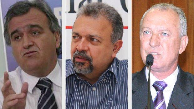 Jorcelino Braga, Elias Vaz e Milton Mercês: jogada para reduzir força do prefeito eleito, Iris Rezende, na Câmara Municipal de Goiânia