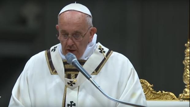 Papa criticou o consumismo e o materialismo   Foto: Reprodução / YouTube