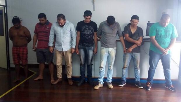 Presos foram encaminhados à Polícia Federal | Foto: Polícia Civil