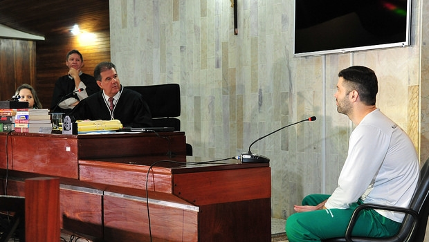 Este foi o 26º julgamento a que Tiago Henrique foi submetido | Foto: Aline Caê / TJGO