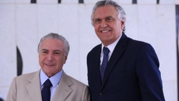 Temer trabalhará pela derrota de Caiado na disputa pelo governo, diz revista