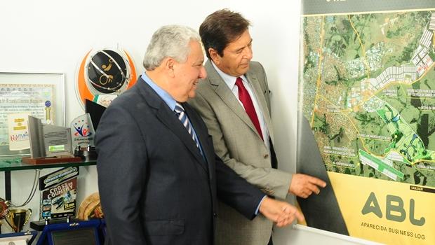 Titular da Secima e prefeito de Aparecida de Goiânia discutem parcerias | Foto: Secima