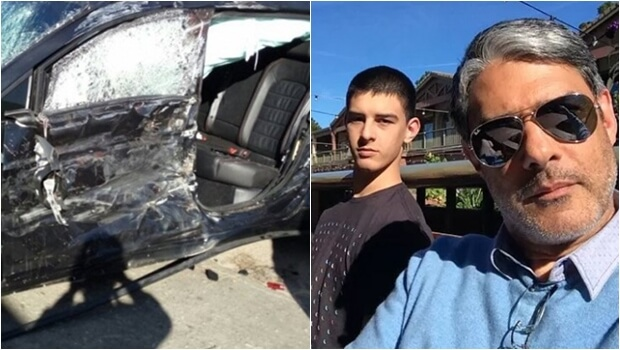 Filho de Fátima Bernardes e William Bonner sofre grave acidente de carro