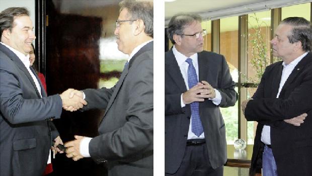 Marcelo Miranda recebe os dois candidatos à Presidência da Câmara