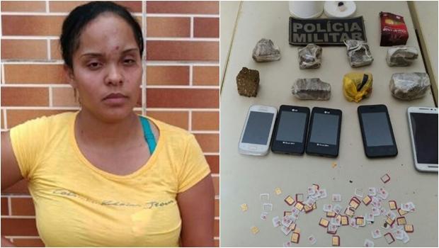 Em Goiás, mulher é presa transportando drogas e chips de celulares em carrinho de bebê