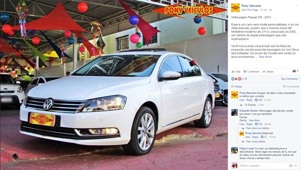 Loja de carros de Goiânia vira sucesso na internet por anúncios bem humorados