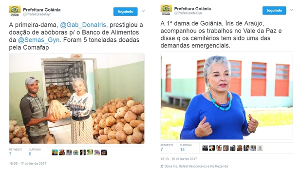 Twitter da Prefeitura de Goiânia pode ser usado para promoção pessoal?