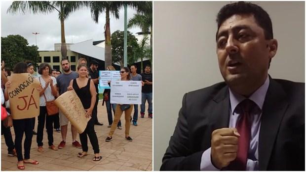 Sem resposta, concursados da Educação voltam a protestar contra gestão Iris