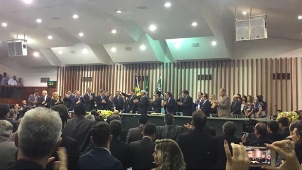 José Vitti é empossado presidente da Assembleia Legislativa de Goiás