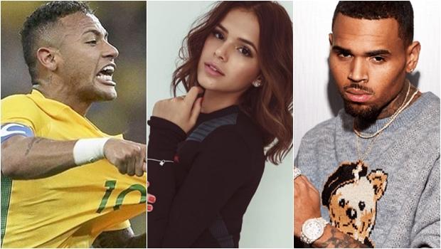 """Neymar """"compra briga"""" com cantor Chris Brown por conta de Marquezine"""