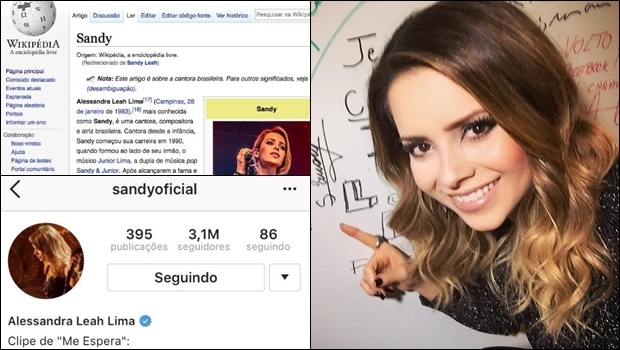 Nome real de Sandy é Alessandra? Instagram da cantora diz que sim