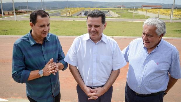 Governador Marconi Perillo vistoria Estação de Tratamento de Esgoto em Águas Lindas