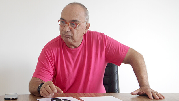 Marcos Fayad em entrevista ao Jornal Opção / Foto: Jornal Opção