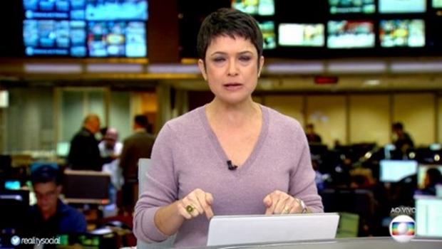 Em dia de greve geral, olheiras de Sandra Annenberg viram notícia e dividem opiniões