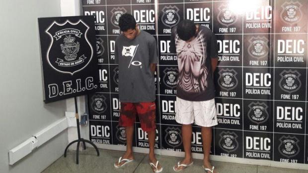 Polícia prende dupla suspeita de praticar arrastões em escolas de Trindade
