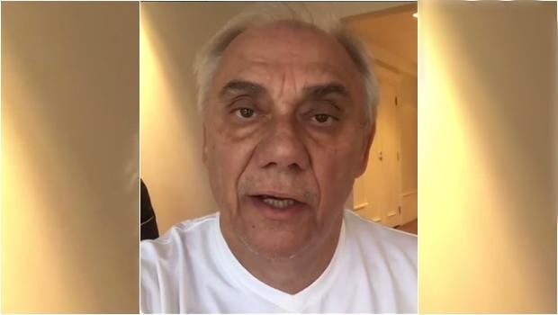 Marcelo Rezende aparece abatido, magro e mais velho. A luta contra o câncer continua. Veja vídeo