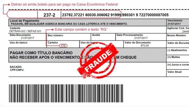 Detran alerta população sobre sites que estão emitindo boletos falsos
