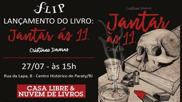 Cristiano Deveras lança livro de contos na FLIP, nesta quinta-feira