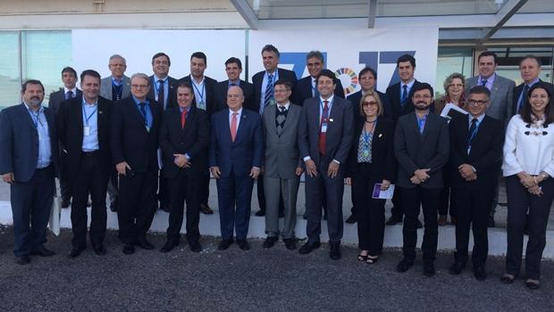 Em reunião na ONU, Gustavo Mendanha discute segurança pública