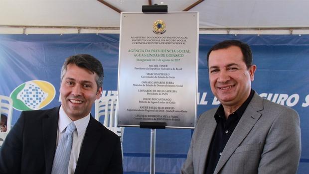 Hildo do Candango inaugura agência do INSS em Águas Lindas