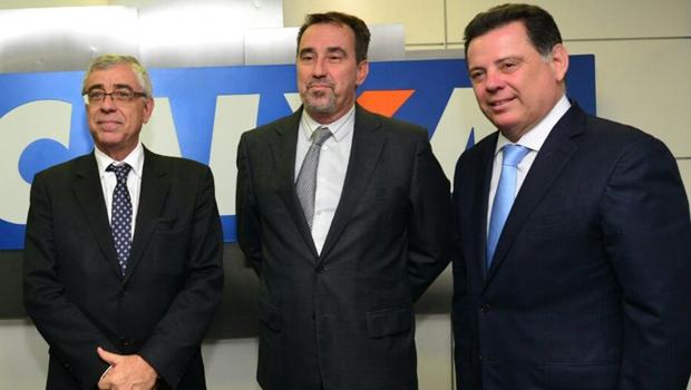 Marconi e Gilberto Marques discutem ampliação de parcerias com presidente da Caixa