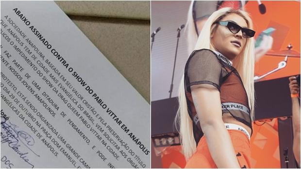 """Por """"valores cristãos"""", abaixo-assinado quer impedir show de Pabllo Vittar em Anápolis"""