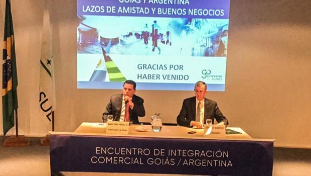 """""""Vamos ampliar relações e negócios com a Argentina"""", comemora Marconi"""